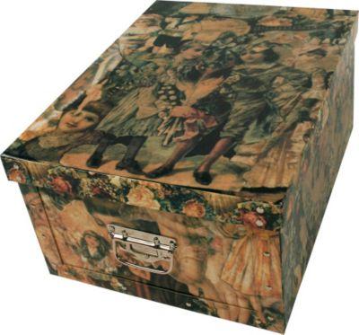 Deko-Karton Bauli Ordnungsboxen Old England Aufbewahrungsbox für Haushalt Büro Wäsche Geschenkbox Dekokarton Sammelbox Mehrzweckbox Ordnungskarton Ordnungsbox Geschenkekarton
