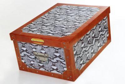 Deko-Karton Bauli Ordnungsboxen Motiv Python Schlange Aufbewahrungsbox für Haushalt Büro Wäsche Geschenkbox Dekokarton Sammelbox Mehrzweckbox Ordnungskarton Ordnungsbox Geschenkekarton