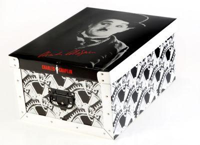 Deko Karton Bauli Ordnungsboxen Charly Chaplin Aufbewahrungsbox für Haushalt Büro Wäsche Geschenkbox Dekokarton Sammelbox Mehrzweckbox Ordnungskarton Ordnungsbox Geschenkekarton