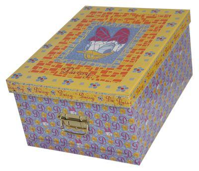 Deko-Karton Bauli Ordnungsboxen Motiv Daisy Aufbewahrungsbox für Haushalt Büro Wäsche Geschenkbox Dekokarton Sammelbox Mehrzweckbox Ordnungskarton Ordnungsbox Geschenkekarton