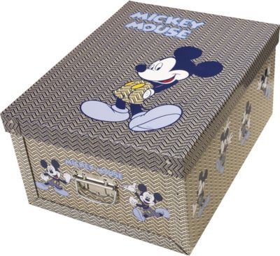 Deko-Karton Bauli Ordnungsboxen Mickey Mouse Aufbewahrungsbox für Haushalt Büro Wäsche Geschenkbox Dekokarton Sammelbox Mehrzweckbox Ordnungskarton Ordnungsbox Geschenkekarton