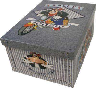 Deko-Karton Bauli Ordnungsboxen Kater Karlo mit Ledergriffen Aufbewahrungsbox für Haushalt Büro Wäsche Geschenkbox Dekokarton Sammelbox Mehrzweckbox Ordnungskarton Ordnungsbox Geschenkekarton