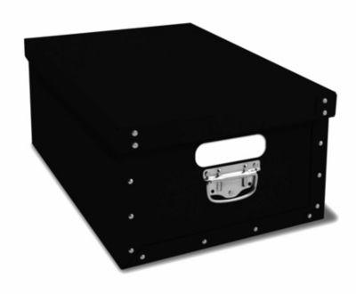 Ordnungsboxen Deko Karton Bauli Schwarz Aufbewahrungsbox für Haushalt Büro Wäsche Geschenkbox Dekokarton Sammelbox Mehrzweckbox Ordnungskarton Ordnungsbox Geschenkekarton