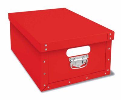 Deko-Karton Bauli Ordnungsboxen rot Aufbewahrungsbox für Haushalt Büro Wäsche Geschenkbox Dekokarton Sammelbox Mehrzweckbox Ordnungskarton Ordnungsbox Geschenkekarton