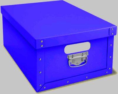 Ordnungsboxen Deko Karton Bauli Blau Aufbewahrungsbox für Haushalt Büro Wäsche Geschenkbox Dekokarton Sammelbox Mehrzweckbox Ordnungskarton Ordnungsbox Geschenkekarton