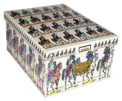 Deko Karton Ordnungsboxen Bauli Motiv Reiter I Aufbewahrungsbox für Haushalt Büro Wäsche Geschenkbox Dekokarton Sammelbox Mehrzweckbox Ordnungskarton Ordnungsbox Geschenkekarton