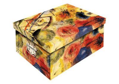 Deko Karton Ordnungsboxen Bauli ''Hermitage'' Aufbewahrungsbox für Haushalt Büro Wäsche Geschenkbox Dekokarton Sammelbox Mehrzweckbox Ordnungskarton Ordnungsbox Geschenkekarton