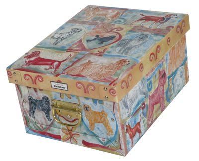 Deko-Karton M Bauli Ordnungsboxen Dog Aufbewahrungsbox