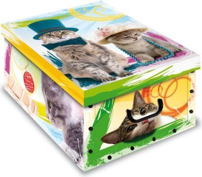 Ordnungsboxen Deko Karton Box Clip Gattini Katze Aufbewahrungsbox für Haushalt Büro Wäsche Geschenkbox Dekokarton Sammelbox Mehrzweckbox Ordnungskarton Ordnungsbox Geschenkekarton