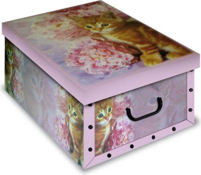 Ordnungsboxen Deko Karton Box Clip GattoRosa Katze Aufbewahrungsbox für Haushalt Büro Wäsche Geschenkbox Dekokarton Sammelbox Mehrzweckbox Ordnungskarton Ordnungsbox Geschenkekarton
