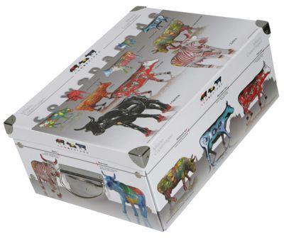 Deko-Karton Ordnungsboxen Bauli ClipClap Motiv Cow Parade Aufbewahrungsbox