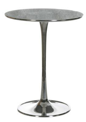 Artra Beistelltisch Nachttisch rund, aus Aluminium poliert