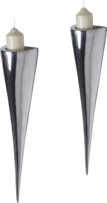 Artra Design Fackelleuchte aus Aluminium 2er SET Teelichthalter Wandleuchter Kerzenständer Kerzenleuchter Gastgeschenke
