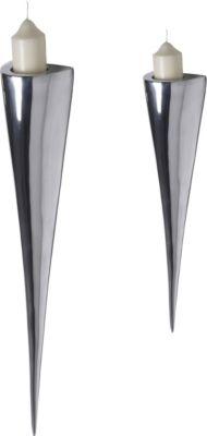 Artra Design Fackelleuchte aus Aluminium klein und groß Teelichthalter Kerzenhalter Kerzenleuchter Gastgeschenke