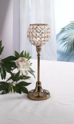 Design Kristall Kerzenständer Marie M in KUPFER Teelichthalter Kerzenhalter Kerzenleuchter Tischdeko Gastgeschenke