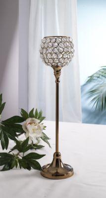 Design Kristall Kerzenständer Marie L in KUPFER Teelichthalter Kerzenhalter Kerzenleuchter Tischdeko Gastgeschenke