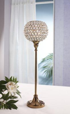Design Kristall Kerzenständer Marie XL in KUPFER Teelichthalter Kerzenhalter Kerzenleuchter Tischdeko Gastgeschenke