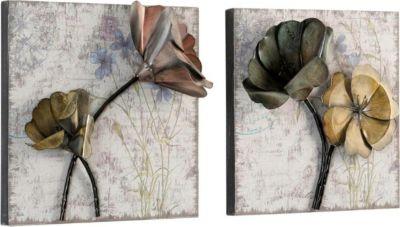 Wanddekoration _ Wandbilder 2er-Set aus Metall _ Metallbilder