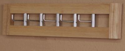 Tür-/Wandgarderobe _ In 7 Farbausführungen lieferbar _ Als Türgarderobe oder als Wandgarderobe nutzbar _ Für Türstärke bis max. 2 cm passend