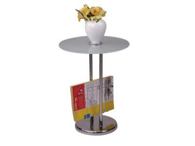 moebel direkt online Beistelltisch _ Glastisch _ Tisch mit Zeitungshalter