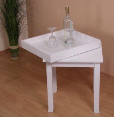moebel direkt online Beistelltisch _ Massivholztisch _ Tisch mit Tablett, abnehmbar _