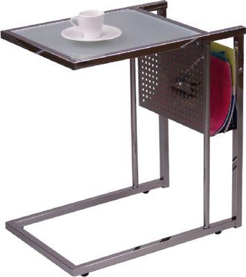 moebel-direkt-online-beistelltisch-glastisch-metalltisch-tisch-mit-zeitungsablage, 79.99 EUR @ plus-de