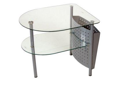 moebel direkt online Beistelltisch _ Glastisch _ Tisch mit Zeitungstasche