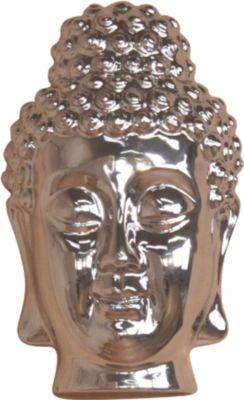 moebel direkt online Buddhamaske _ Wanddekoration aus Polyresin _ silber