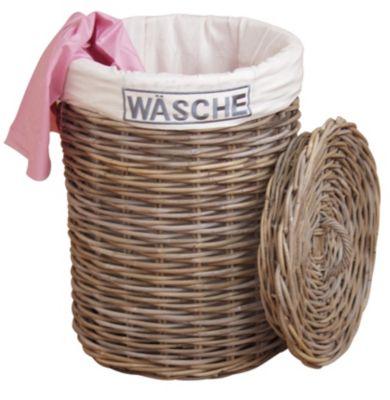 moebel direkt online Wäschekorb _ Wäschesammler _ Rattankorb _ Wäschebox _ In 2 Farben lieferbar