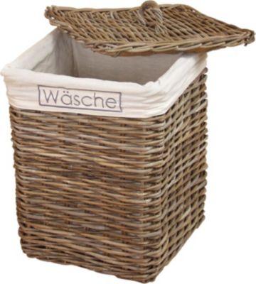 Wäschekorb _ Wäschesammler _ Rattankorb _ Wäschebox _ In 2 Farben lieferbar