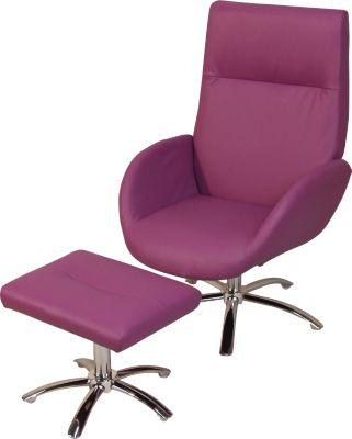 mobel-direkt-online-polstersessel-mit-hocker-sessel-und-hocker-relaxsessel-kunstlederbezug-lila-drehsessel-inklusive-hocker-maksim-, 149.99 EUR @ plus-de