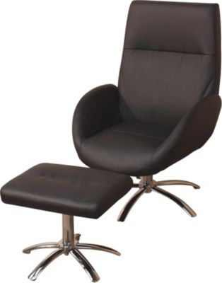 mobel-direkt-online-polstersessel-mit-hocker-sessel-und-hocker-relaxsessel-kunstlederbezug-schwarz-drehsessel-inklusive-hocker, 149.99 EUR @ plus-de