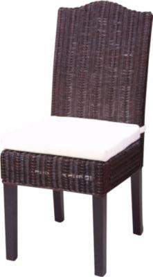 moebel direkt online Rattanstuhl wahlweise mit Sitzkissen oder ohne lieferbar.