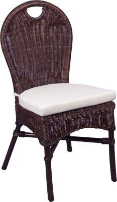 Rattanstuhl inklusive Sitzkissen