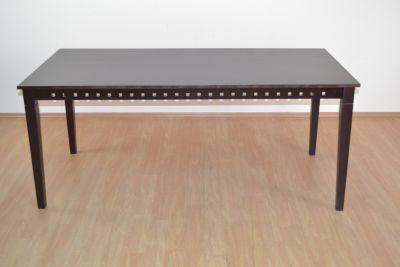 Esstisch 180x90 cm _ Tisch braun gebeizt und lackiert