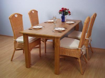Rattanstuhl (1 Stuhl) ohne Sitzkissen