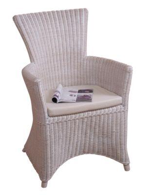 moebel direkt online Rattansessel _ Einzelsessel _ handgeflochten | Wohnzimmer > Sessel > Rattansessel | Weiß | Möbel direkt online