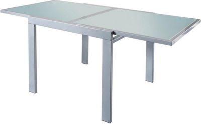 Glastisch mit Auszug