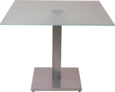 Glastisch, Esstisch, 95x95 cm große Glasplatte, Design-Esstisch