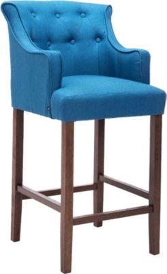 holz barhocker lykso antik hell mit dicker polsterung stoffbezug r ckenlehne fu st tze f r. Black Bedroom Furniture Sets. Home Design Ideas