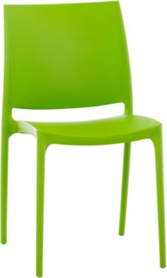 XXL Küchenstuhl, Stapelstuhl, Gartenstuhl MAYA, stapelbar, wasserabweisend, UV-beständig, belastbar bis 160 kg
