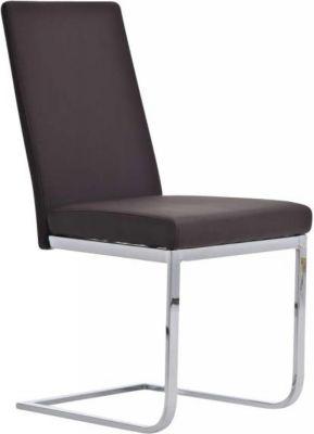 Schwing-Stuhl KATE, Freischwinger-Stuhl mit dickem Polster, hochwertigem Bezug, Metall-Gestell, FARBWAHL