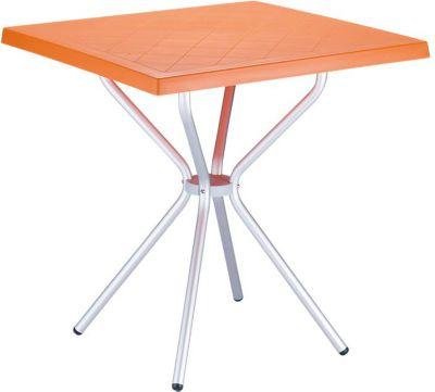 hochwertiger Aluminium Gartentisch SORTHIE 70 x 70 cm, Höhe 72 cm, ideal für den Balkon & Camping