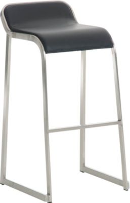 Design Edelstahl Barhocker PALAU, stapelbar, Sitzhöhe 76 cm