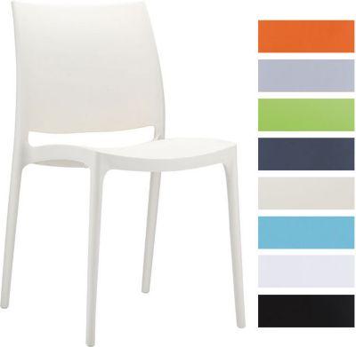 Design Kunststoffstuhl MAYA, stapelbar, wassera...