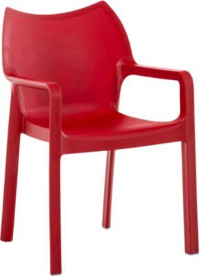 Gartenstuhl, Küchenstuhl, Stapel-Stuhl DIVA mit Armlehnen, Kunststoff-Stuhl XXL 160 kg max. Belastbarkeit