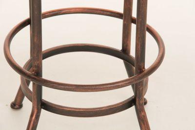 Design-Barhocker PINO, Industrial Look, Materialmix Holz + Metall, Sitzhöhe stufenlos verstellbar 68 - 88 cm