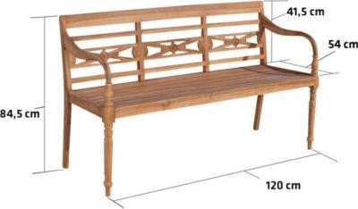 gartenbank teakholz 3 preis vergleich 2016. Black Bedroom Furniture Sets. Home Design Ideas