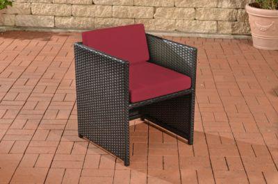 Erstaunlich Polyrattan Sessel TAHITI Inklusive Sitzkissen Robuster Gartenstuhl Mit  Einem Untergestell Aus Aluminium In Verschiedenen Farben