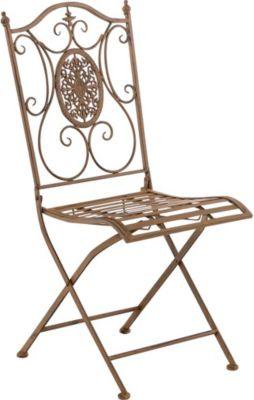 eisen garten stuhl sibell metall stuhl klappbar dehsign nostalgisch antik clp m bel gartenm bel. Black Bedroom Furniture Sets. Home Design Ideas